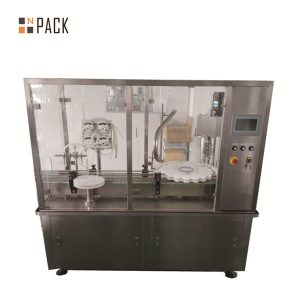 화장품 산업을위한 10g-100g 로션 크림 단지 충전물 및 모자를 씌우는 기계