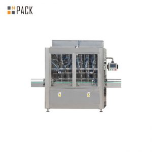 PLC는 1-5L 표백제 세탁 기술자를위한 10의 머리 중력 병 충전물 기계를 통제합니다