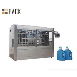 화장실 세탁 기술자 / 부식성 액체 500ml-1L를위한 자동적 인 중력 병 충전물 기계