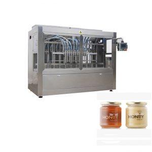 PLC 통제 8 분사구 풀 충전물 기계, 400G 유리제 잼 단지 충전물 기계