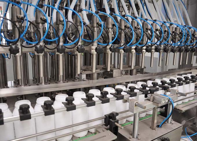 PLC는 높은 생산 효율성을 가진 세탁 제 충전물 기계 선을 통제합니다