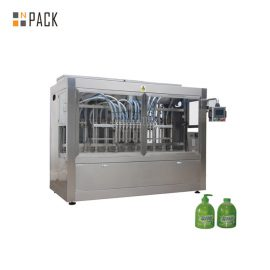 100ml-1L 액체 비누 / 로션을위한 16의 분사구 피스톤 높은 점성 액체 충전물 기계