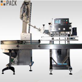 50ml-1L 농약 병을위한 높은 자격이 된 비율 회전하는 병 모자를 씌우는 기계 120 CPM
